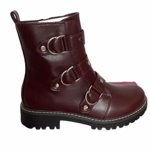 SO° Cichlid Wine Combat Boots Size 8